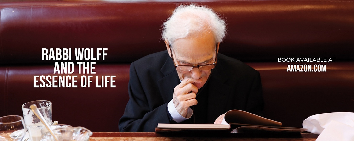 Rabbi Wolff an the essence of life book